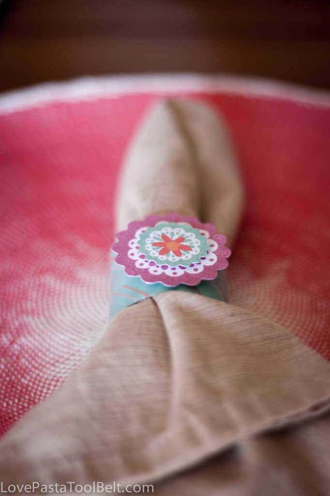 DIY Washi Tape Napkin Rings- Love, Pasta and a Tool Belt
