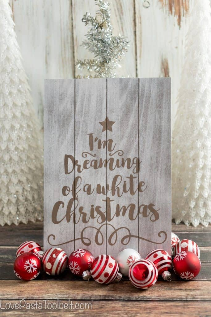 Dreaming of a White Christmas? Add some dreaminess to your home with this DIY White Christmas Art
