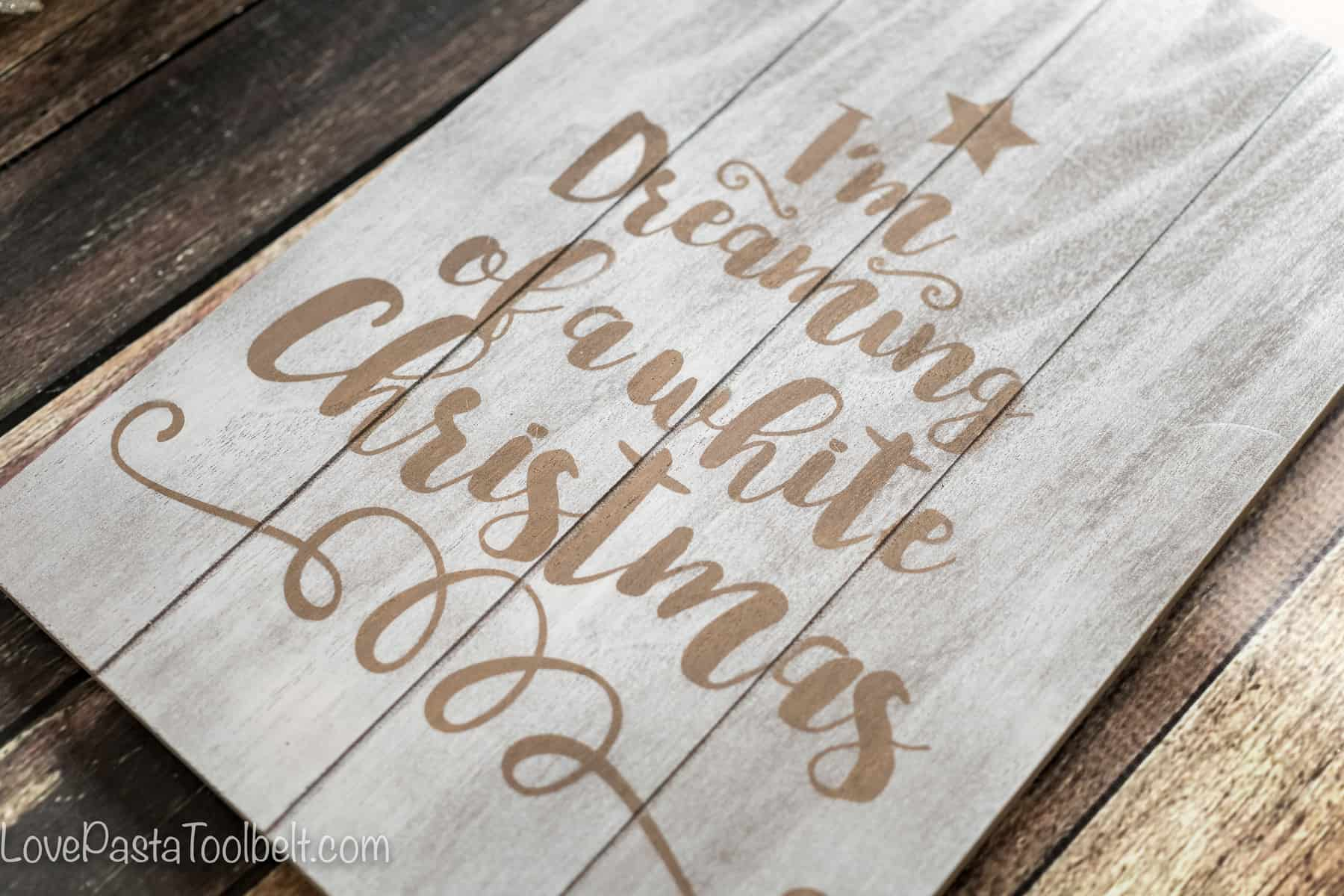 DIY White Christmas Art - Love, Pasta, and a Tool Belt