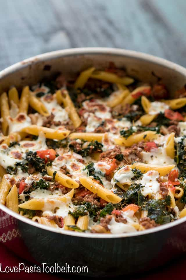 Kale-and-Tomato-Skillet-Lasagna