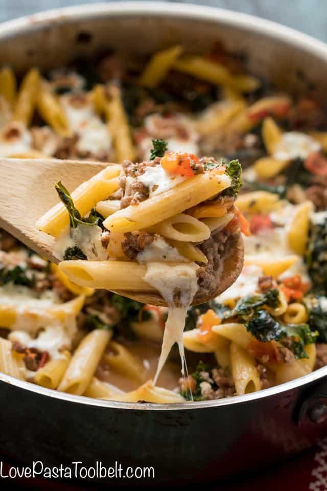 Kale-and-Tomato-Skillet-Lasagna