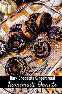 Dark-Chocolate-Gingerbread-Homemade-Donuts