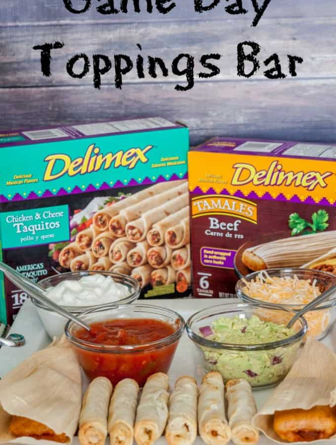 Game Day Toppings Bar with Delimex- Love, Pasta and a Tool Belt #ad #DelimexFiesta | Fiesta | Game Day | Toppings Bar | Mexican food | Food |