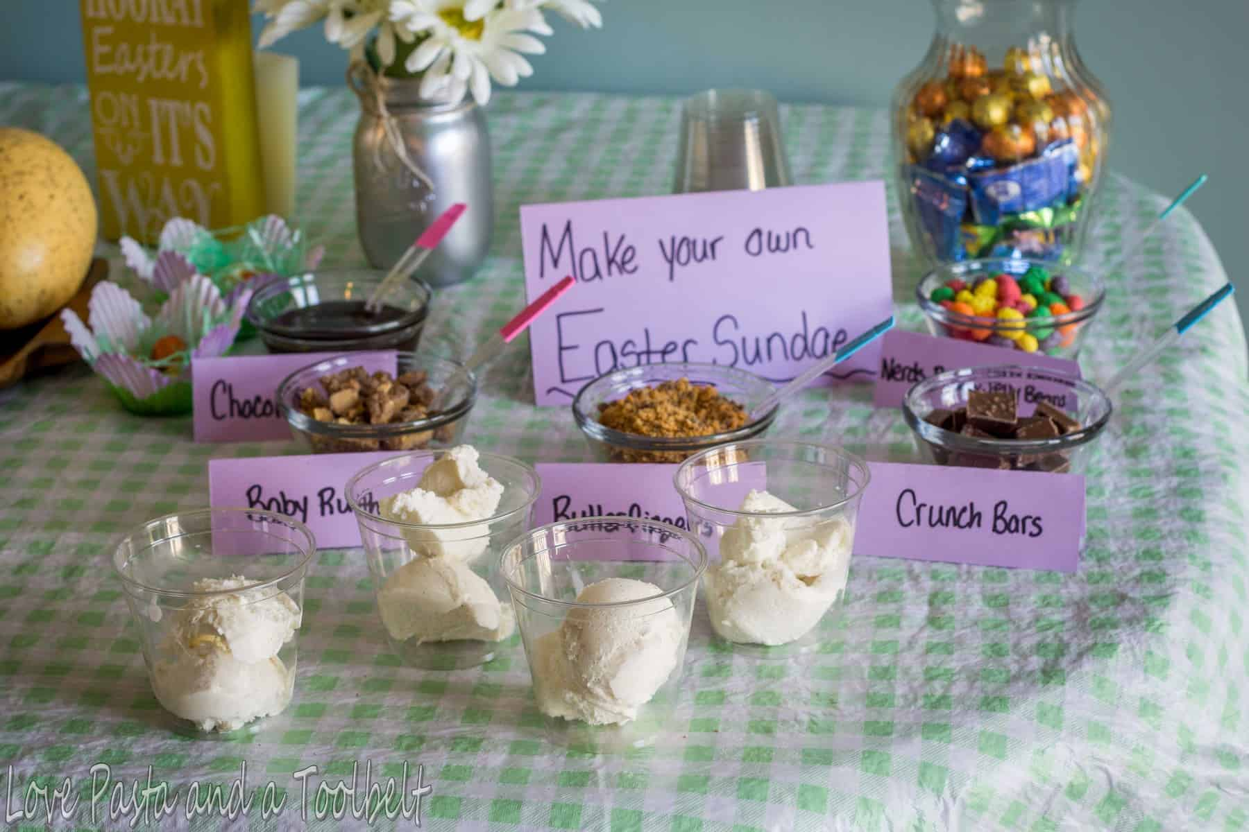 easter party ideas with nestle love pasta and a tool belt