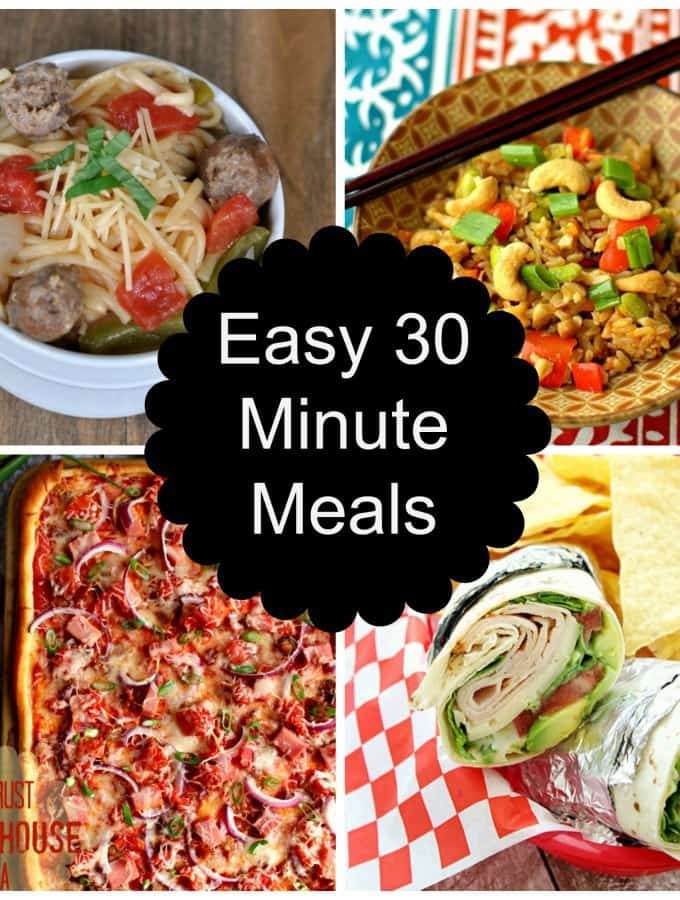 Easy 30 Minute Meals Round Up
