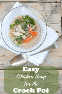 Easy Chicken Soup for the Crock Pot