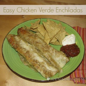 Easy Chicken Verde Enchiladas