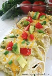Easy Chili Verde Enchiladas