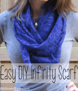 Easy DIY Infinity Scarf