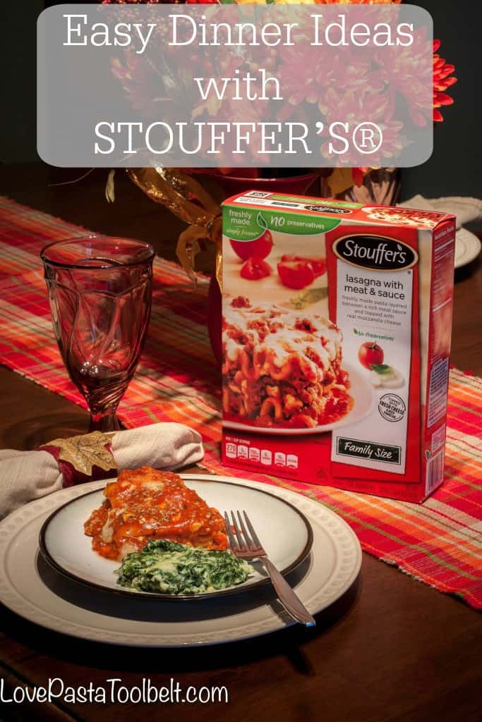 I'm sharing some Easy Dinner Ideas with STOUFFER'S® with you today along with a great side dish recipe!- Love, Pasta and a Tool Belt #ad #StouffersHoliday