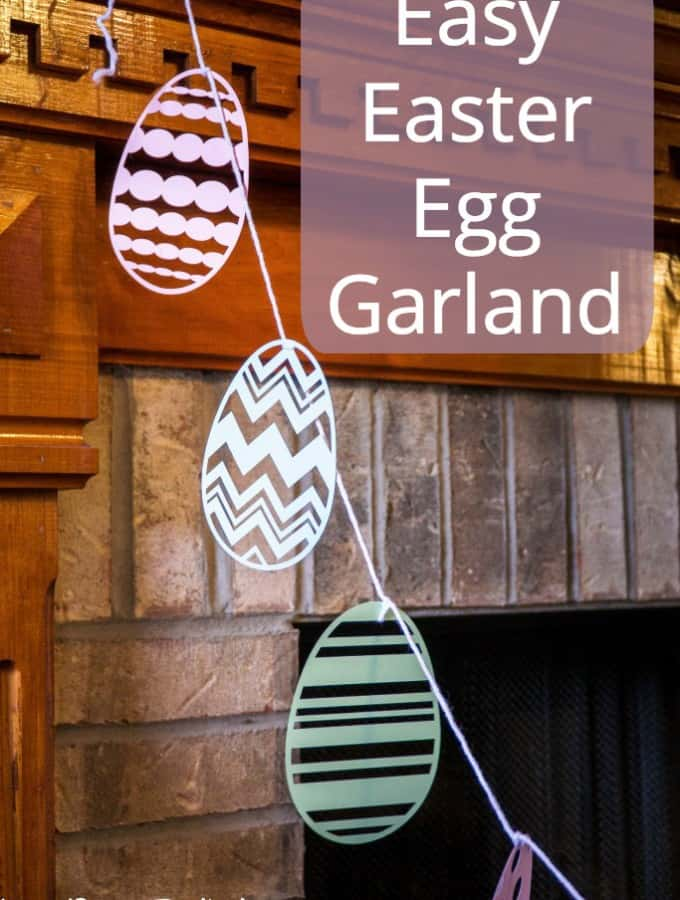 In just a few steps make this Easy Easter Egg Garland for some cute decor!- Love, Pasta and a Tool Bet | DIY | Crafts | Craft Ideas |
