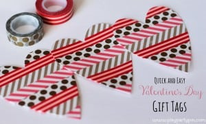 Easy Valentine's Washi Tape Cards