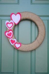 Easy Valentines Wreath