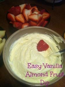Easy Vanilla Almond Fruit Dip