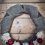 Fall Apple Wreath- Love, Pasta and a Tool Belt #wreath #fall