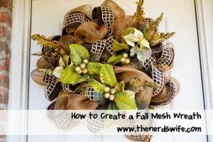 Fall Mesh Poly Deco Wreath
