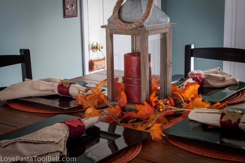 Fall Table Decor- Love, Pasta and a Tool Belt