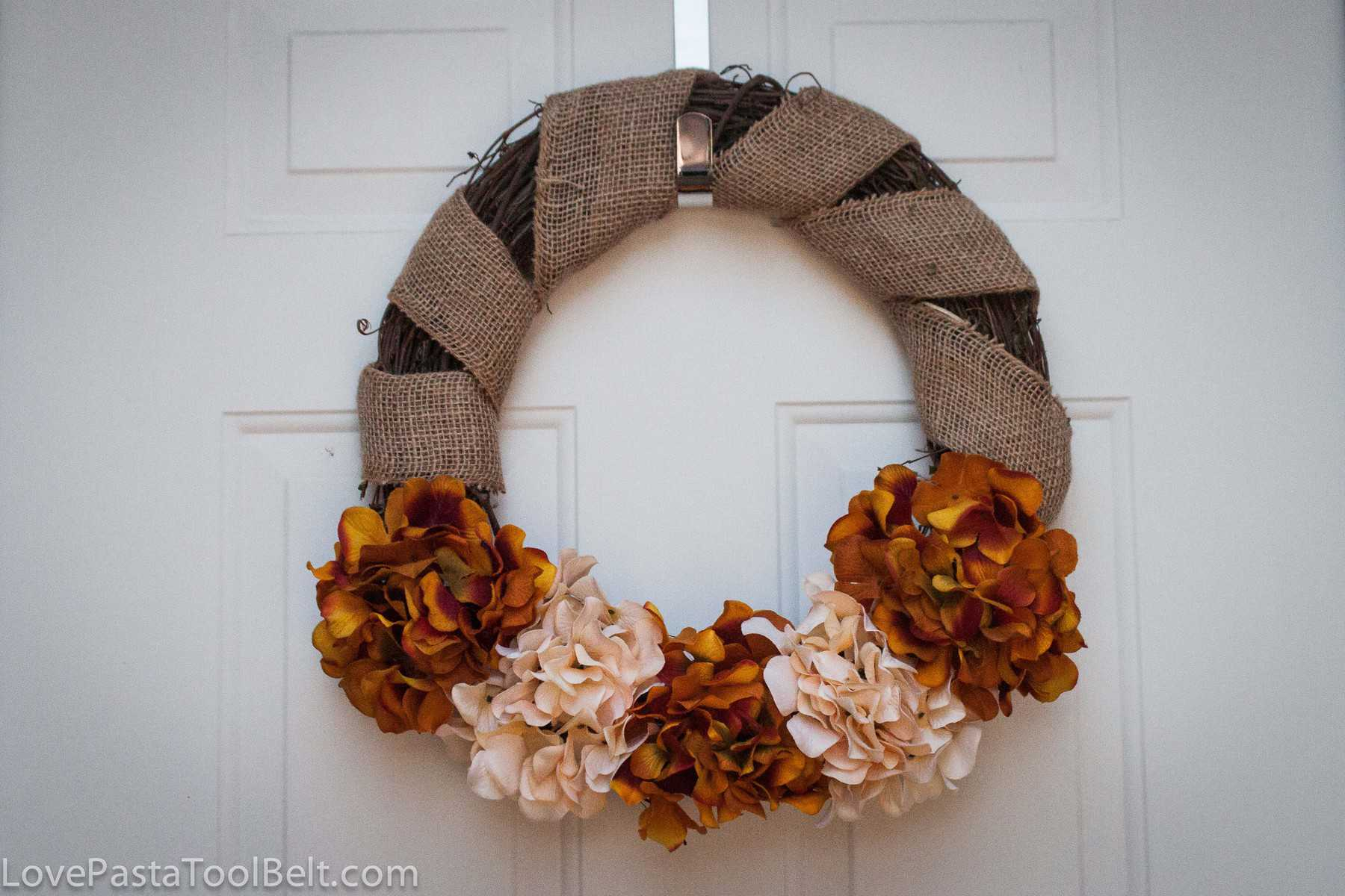 3-Step Fall Burlap Wreath