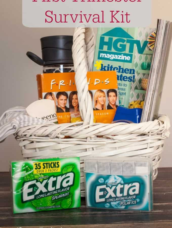 Help a newly expectant mom get by with this First Trimester Survival Kit!- Love, Pasta and a Tool Belt #GiveExtraGetExtra #CVS #ad | Pregnancy | Baby | Trimesters | New Mom | Expectant Mom |