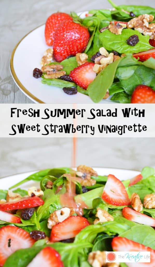Please welcome my guest poster Kendra with her recipe for Fresh Summer Salad with Sweet Strawberry Vinaigrette- Love, Pasta and a Tool Belt   salad   recipes   food   fresh   healthy   summer  