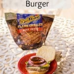 AD Try out this Fried Egg & Bacon Burger with Tyson® Ball Park® Patties for an easy and delicious dinner- Love, Pasta and a Tool Belt | dinner | recipes | easy dinner ideas | Hamburger | cheeseburger |