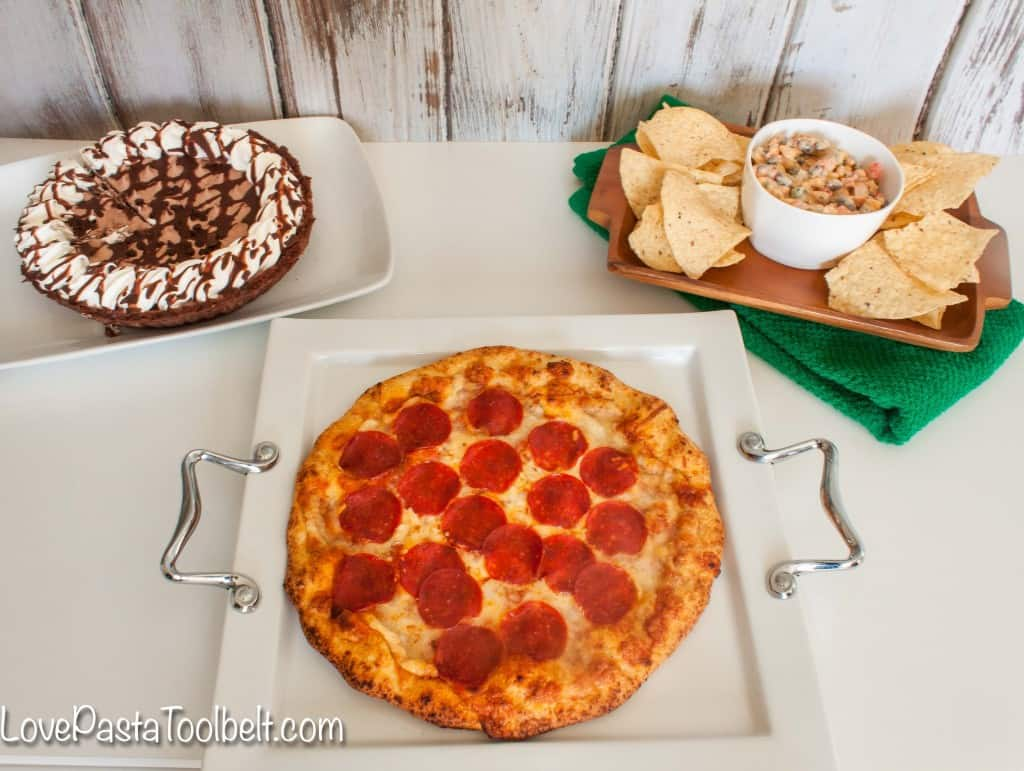 It's time for some big games so check out this easy Game Day Menu with Red Baron!- Love, Pasta and a Tool Belt #ad #TeamPizza #CB | football food | game day food | menu | dip | Appetizers | recipes |