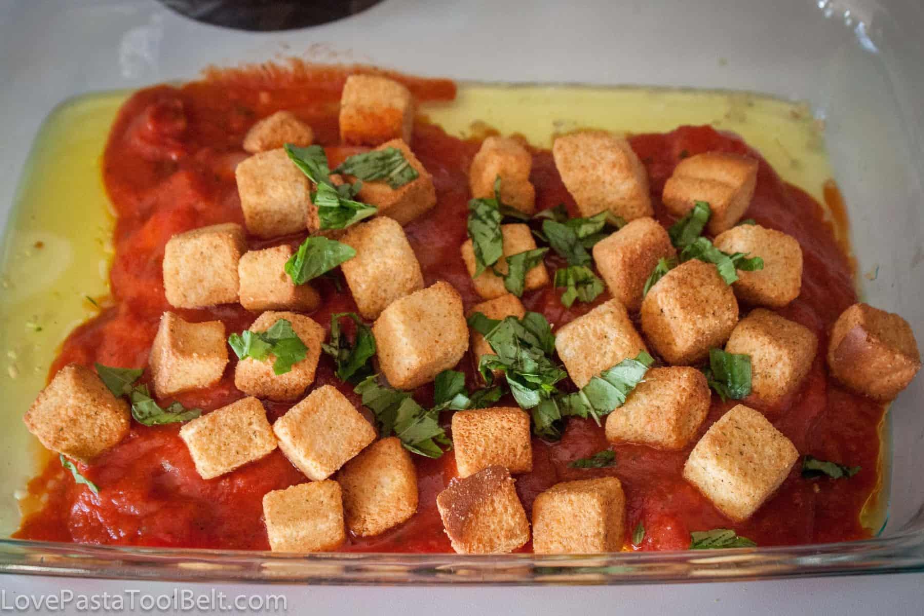 Garlic Crouton Chicken Parmesan