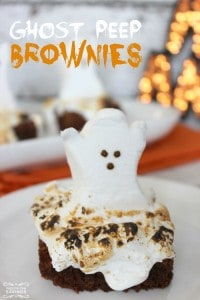 Ghost-Peep-Brownies