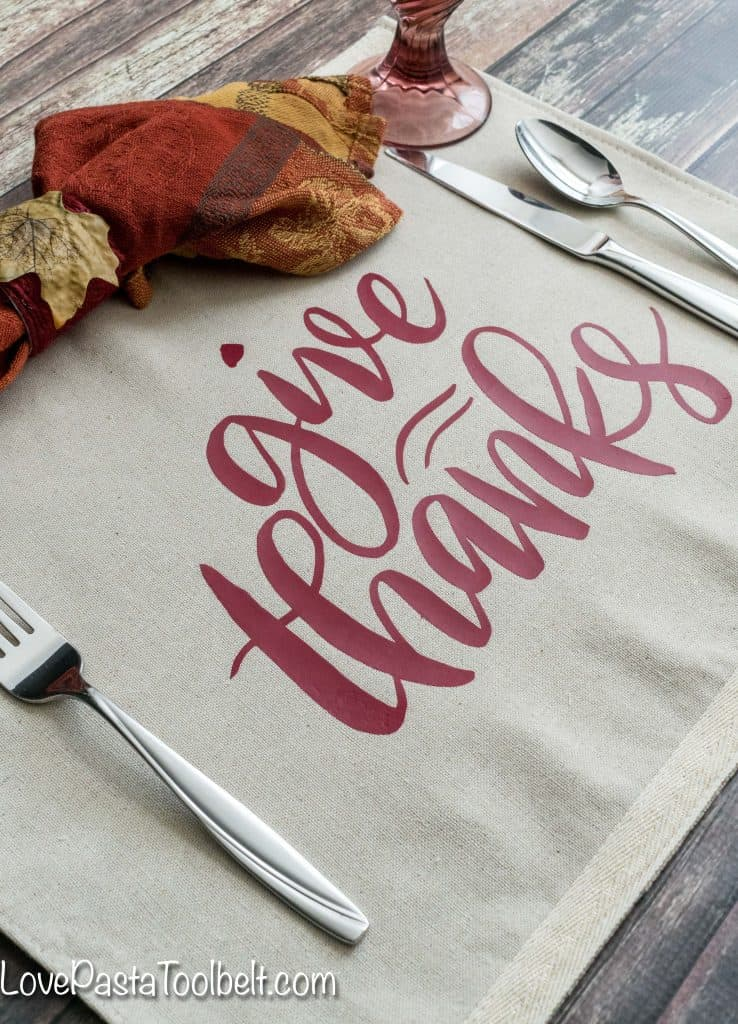 Remember to give thanks now and all year long with this DIY Give Thanks Placemat