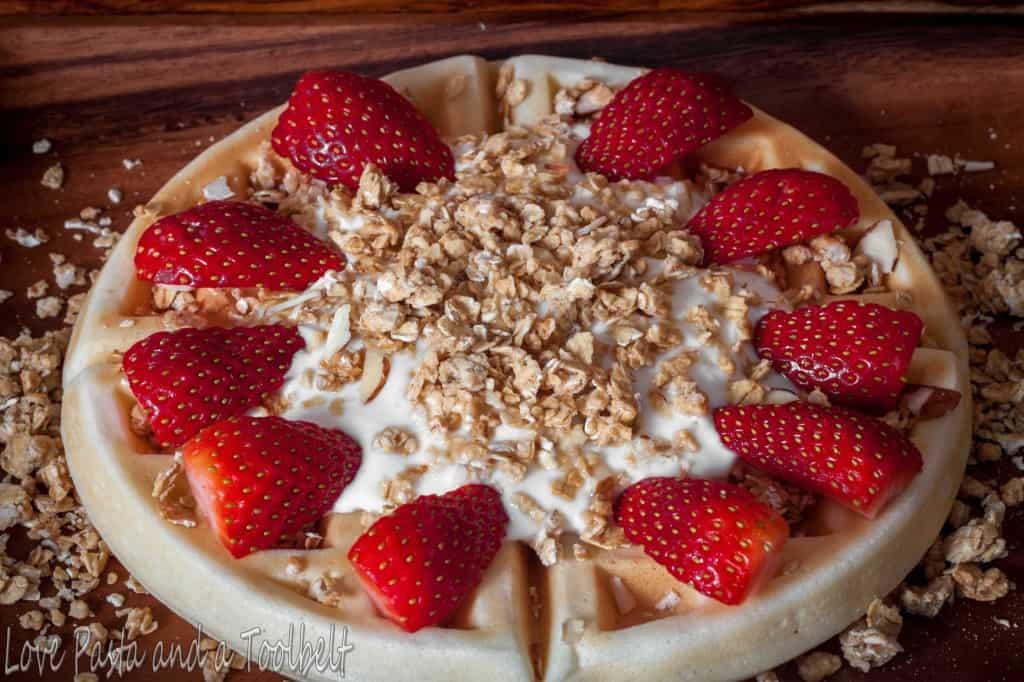 Granola Yogurt Waffle1