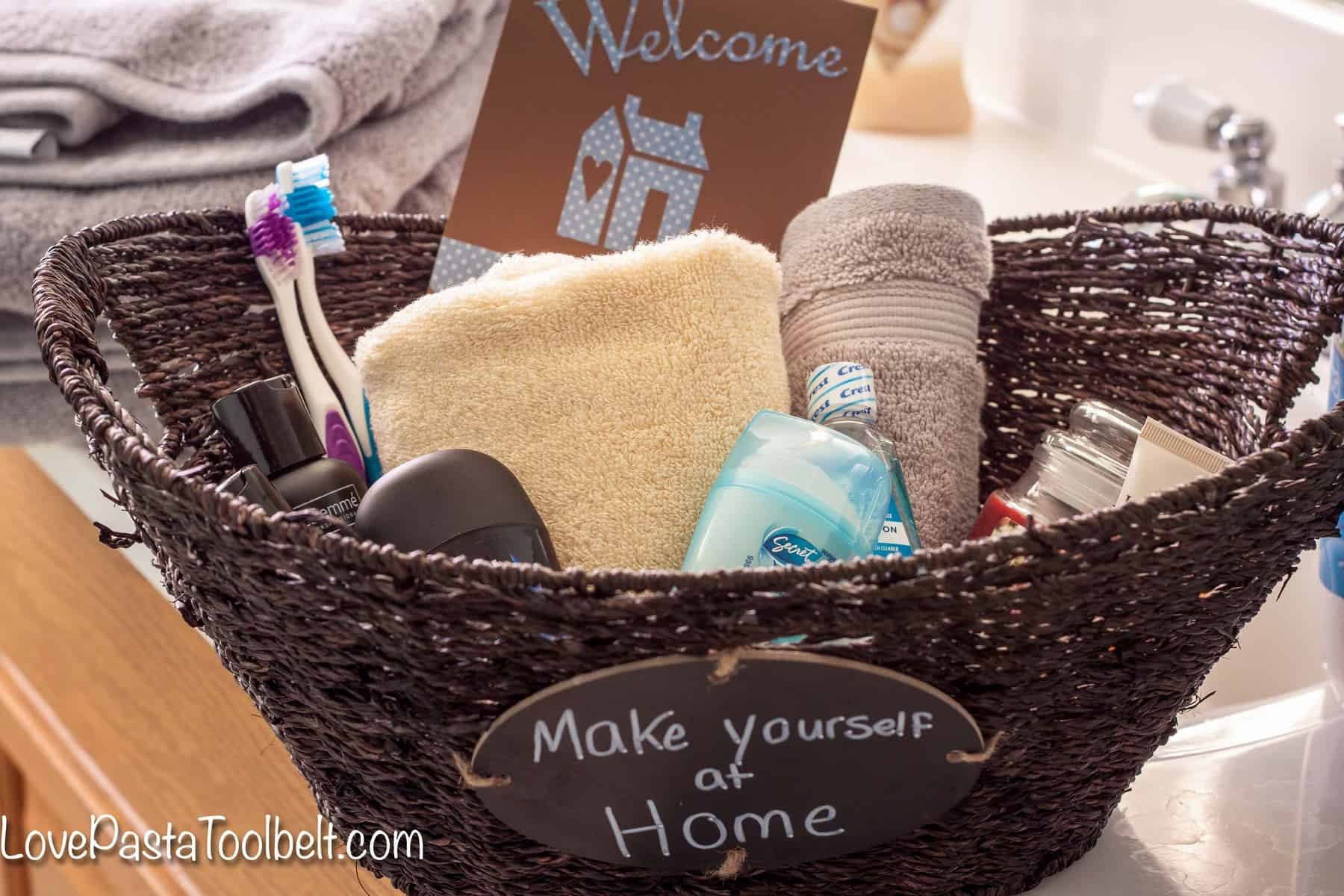 Amazing Help Your Guests Feel More At Home With This Guest Bathroom Welcome  Basket!  Love