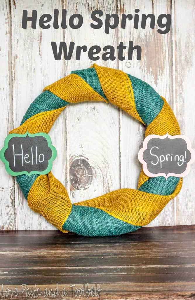 Hello Spring Wreath- Love, Pasta and a Tool Belt | spring | spring decor | wreath | DIY | crafts |