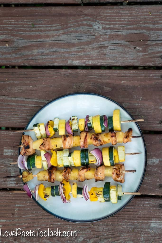 Enjoy grilling with this delicious recipe for Honey Garlic Chicken Kabobs. Click thru for the recipe or Repin to save for later