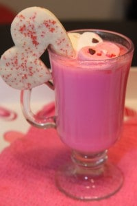 Hot Pink Decked out Hot Chocolate