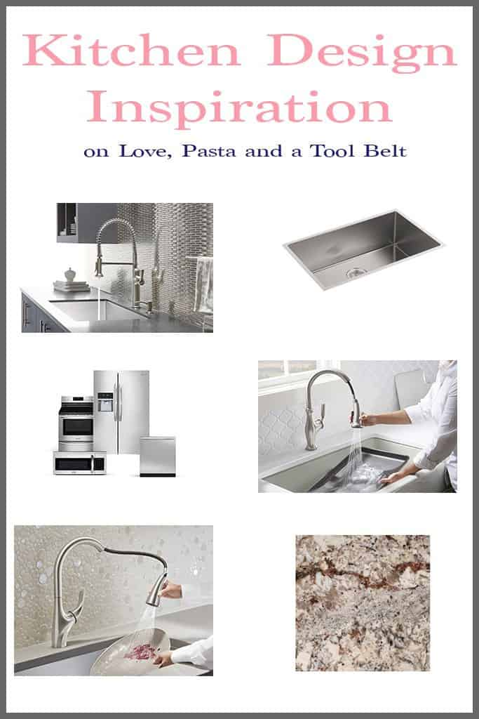 Get inspired to do some updating with this Kitchen Design Inspiration- Love, Pasta and a Tool Belt #ad #KohlerIdeas | remodel | design | decorate | redecorate | decor | Click thru to check it out or Re-Pin for later!