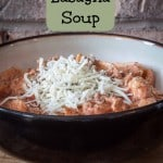 Crockpot Lasagna Soup is a creamy and delicious dinner recipe that is easy to make! | recipes | crockpot | lasagna | soup | dinner |