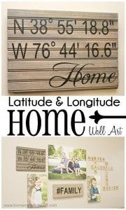 Latitude & Longitude Home Wall Art