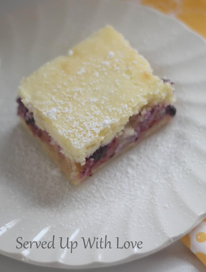 Lemon Blueberry Cheesecake Bars- Guest Post