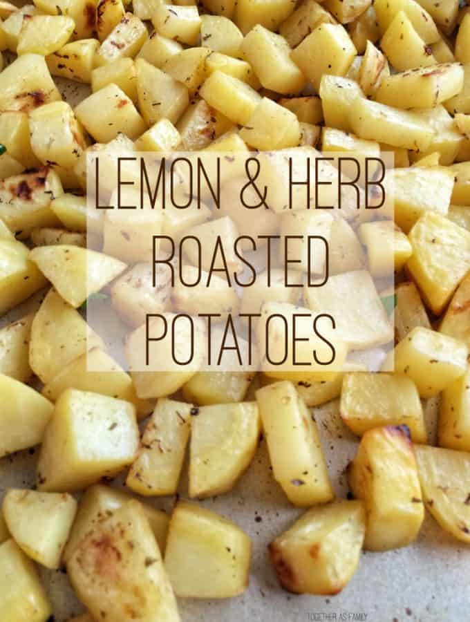 Please welcome my contributor Jessica as she shares her recipe for Lemon & Herb Roasted Potatoes- Love, Pasta and a Tool Belt | side dish | sides | recipes |