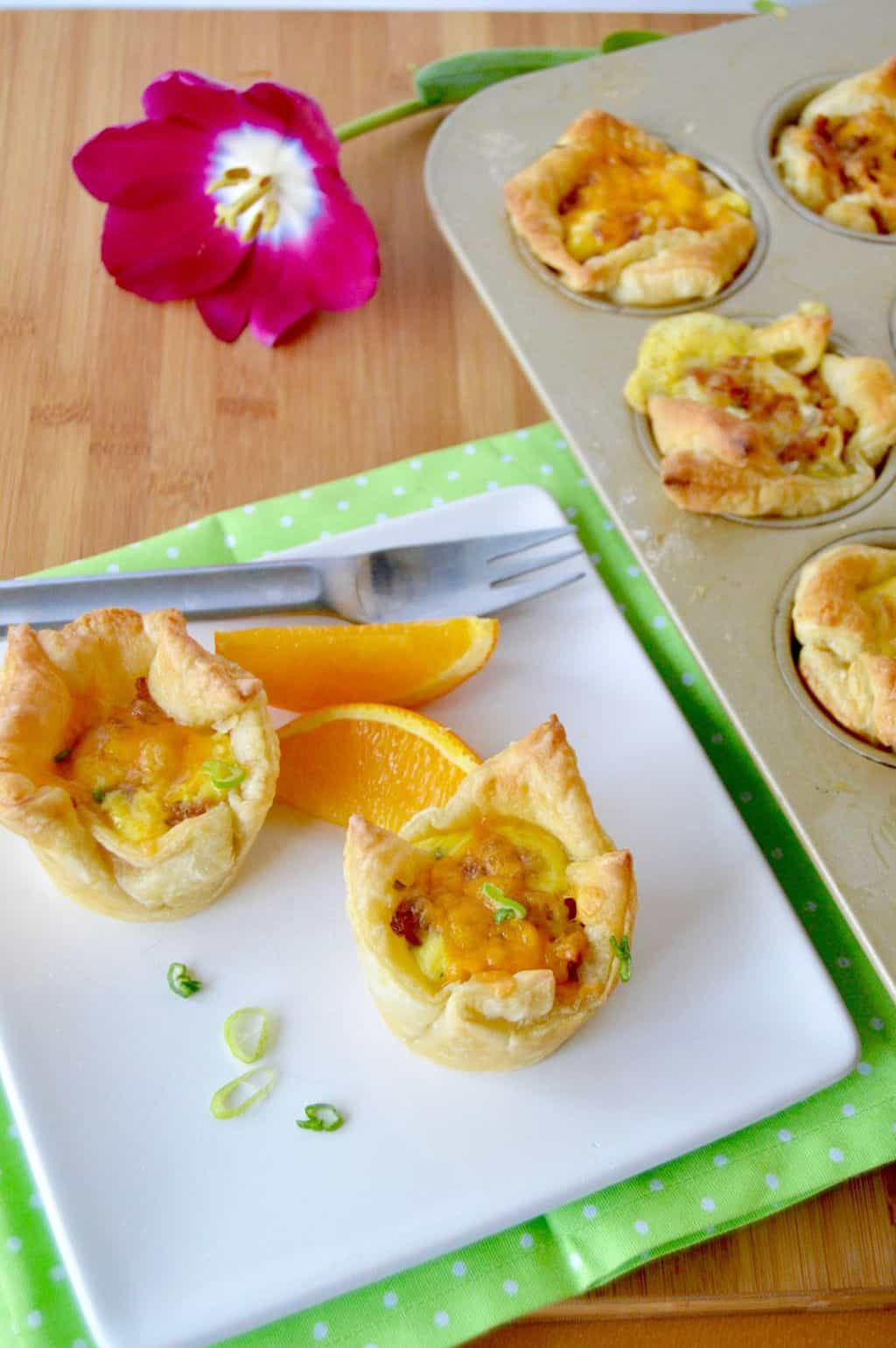 Loaded Puff Pastry Breakfast Cups Love Pasta And A