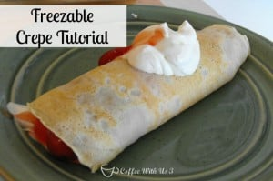Make and Freeze Crepes