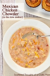 Mexican Chicken Chowder in slow cooker