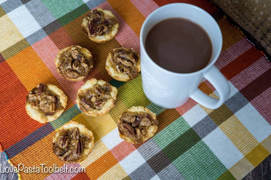 These simple Mini Pecan Cakes are best served alongside a cup of hot cocoa!- Love, Pasta and a Tool Belt #KCup #HotCocoa, #IC (ad) | desserts | recipes | food | dessert ideas |
