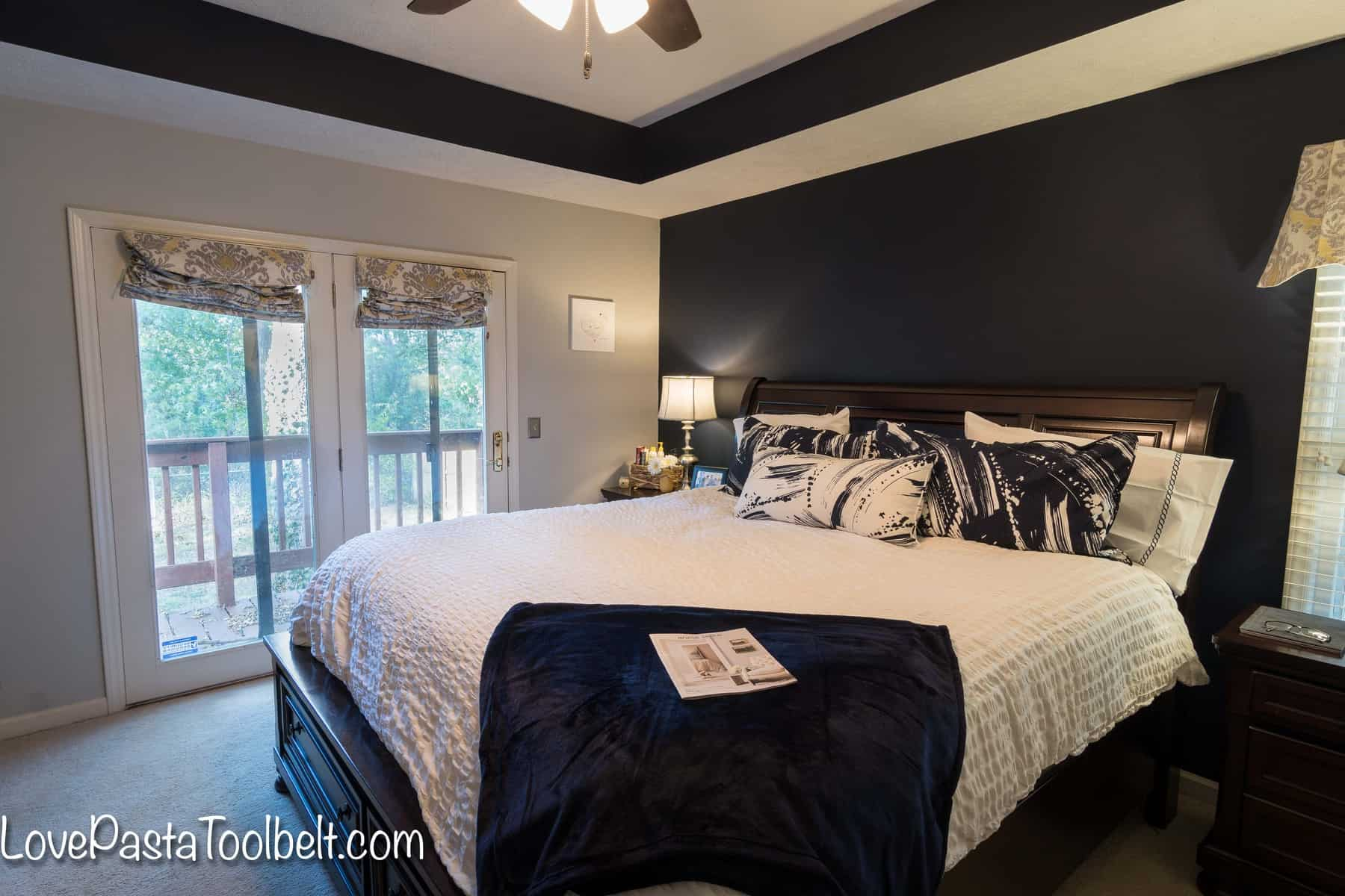Navy and Gray Master Bedroom Design - Love, Pasta, and a Tool Belt