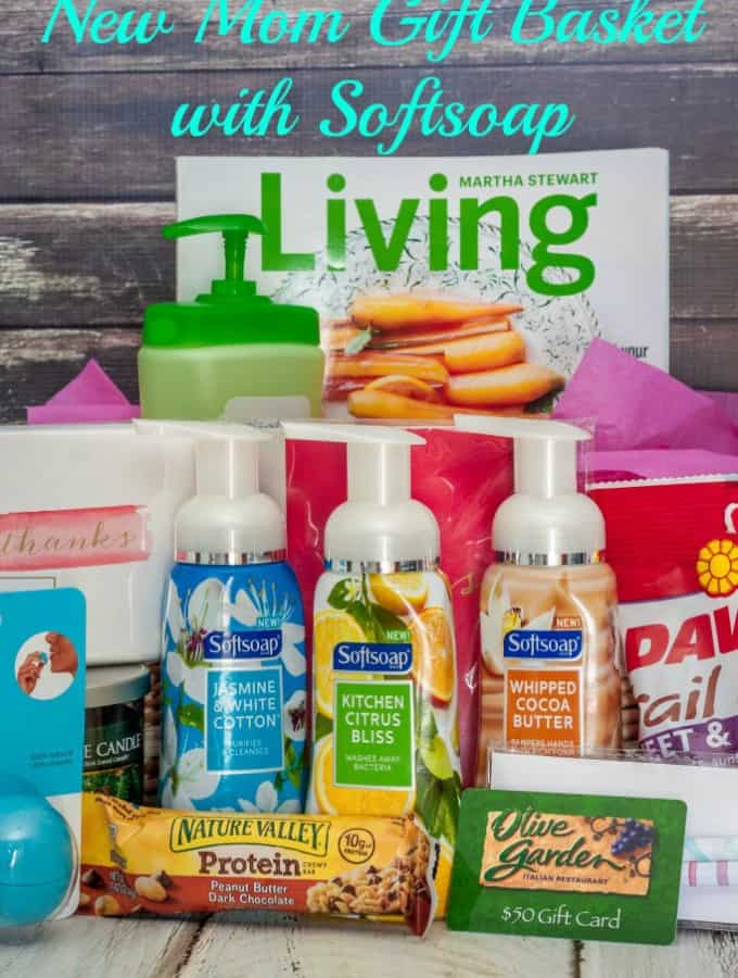New Mom Gift Basket with Softsoap- Love, Pasta and a Tool Belt #FoamSensations #ad }| gift ideas | gift basket | new mom gift | new mom | baby gift |