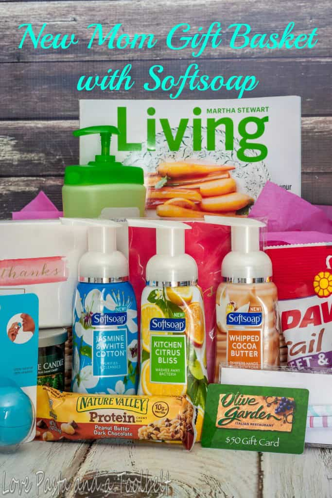 Baby Gifts For New Moms : New mom gift basket with softsoap love pasta and a