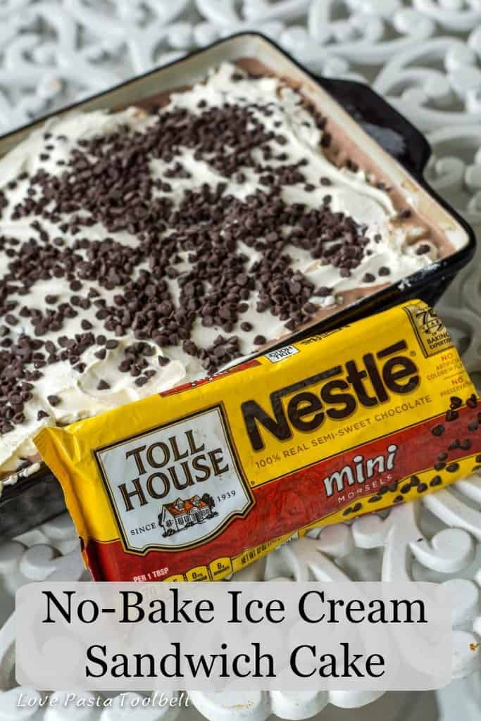 Cool off with this No-Bake Ice Cream Sandwiches- Love, Pasta and a Tool Belt #ad #NoBake | desserts | dessert recipe | recipes | no bake | cake | ice cream |