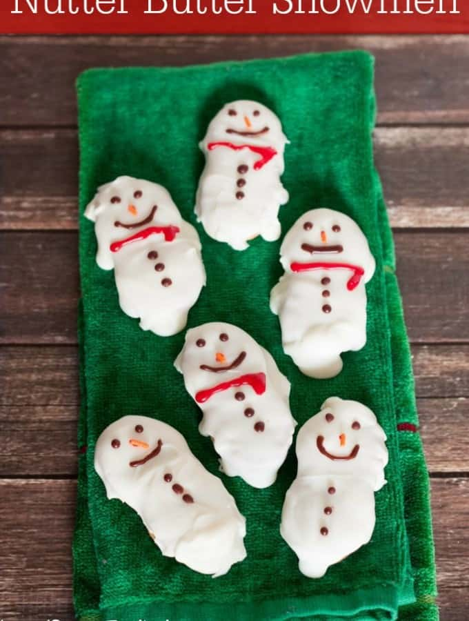 Make a fun holiday treat with these Nutter Butter Snowmen!- Love, Pasta and a Tool Belt #NuttyForTheHolidays #ad | cookies | dessert | desserts | recipes | Christmas |