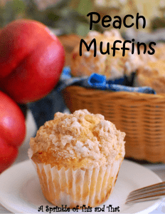 Peach Muffins Poster