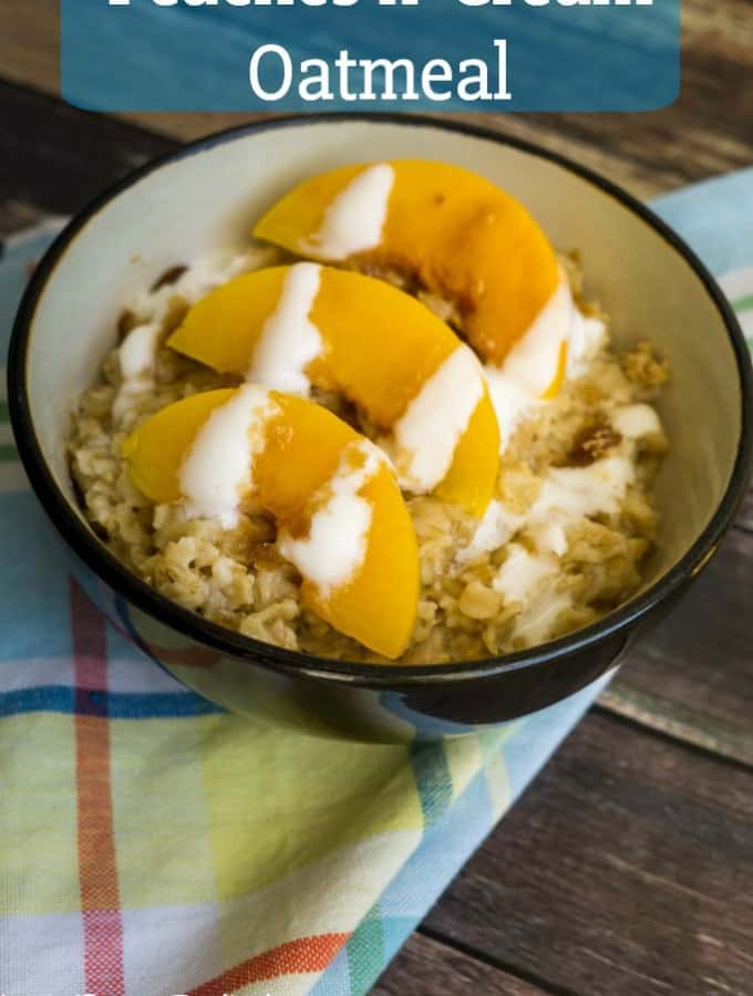 Peaches n' Cream Oatmeal